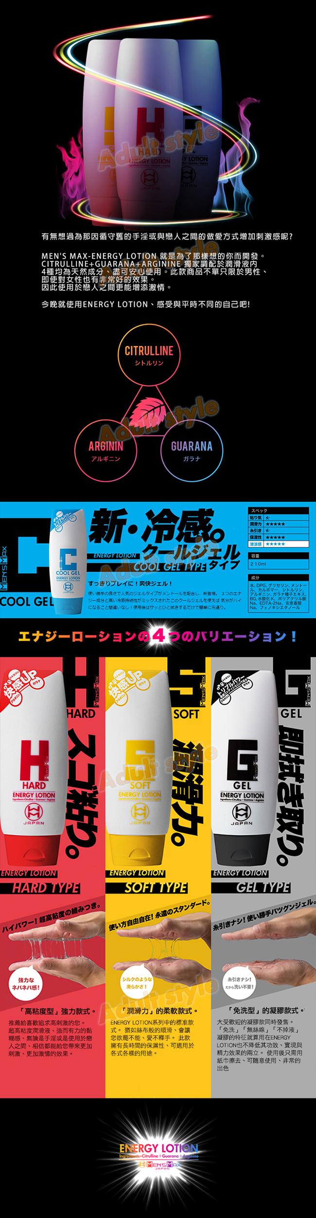潤滑液-日本MENS MAX-ENERGY LOTION潤滑液(酷涼)