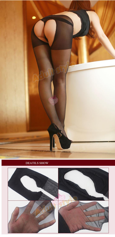 情趣精品-玩美誘惑絲般柔滑大開檔透膚褲襪/絲襪(白色)