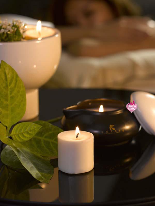 情趣精品-EXTASE-禪風熱石蠟燭精油按摩組 Calin(春天玫瑰)