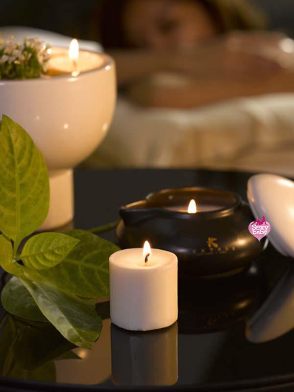 情趣精品-EXTASE-禪風熱石蠟燭精油按摩組 Calin(檀香)
